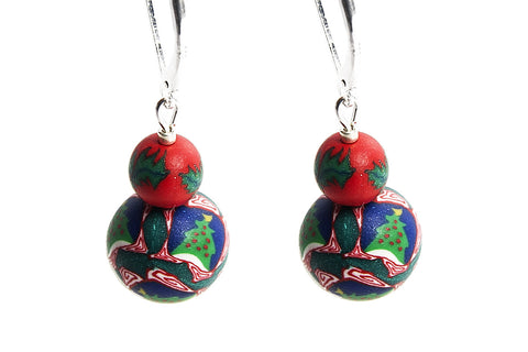 Merry Christmas Large Bead Earrings