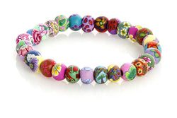 Multi Tropical Small Bead All Clay Bracelet - Intention Beads | Astrology | Talisman
