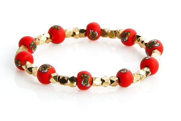 Blackhawks Small Bead Metric Bracelet - Intention Beads | Astrology | Talisman
