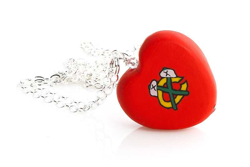 Blackhawks Heart Pendant Necklace - Intention Beads | Astrology | Talisman