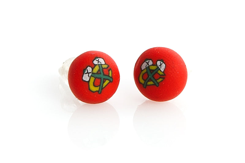 Blackhawks Post Earrings - Intention Beads | Astrology | Talisman