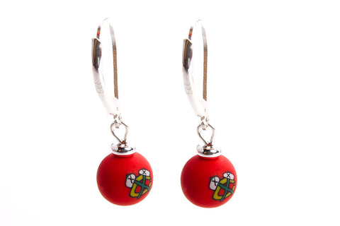 Blackhawks Small Bead All Clay Earrings