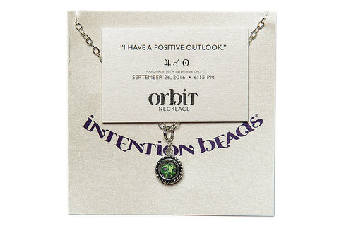 "Orbit Necklace: ""I have a positive outlook."""