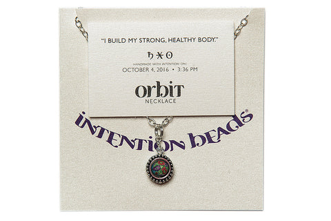 "Orbit Necklace: ""I build my strong, healthy body"""