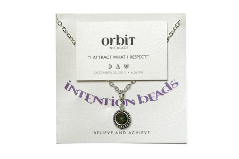 "Orbit Necklace ""I Attract What I Respect"""