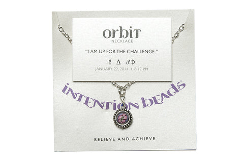 "Orbit Necklace ""I Am Up For The Challenge"""