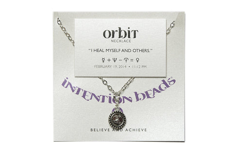 "Orbit Necklace ""I Heal Myself And Others"""