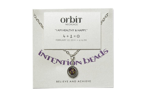 "Orbit Necklace ""I Am Healthy And Happy"""