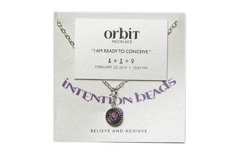 "Orbit Necklace ""I Am Ready To Conceive"""