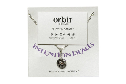 "Orbit Necklace ""I Live My Dream"""