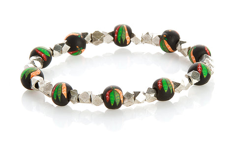 Blackhawks Small Bead Metric Bracelet