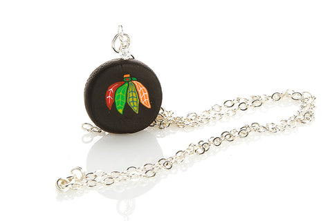 Blackhawks Puck Pendant