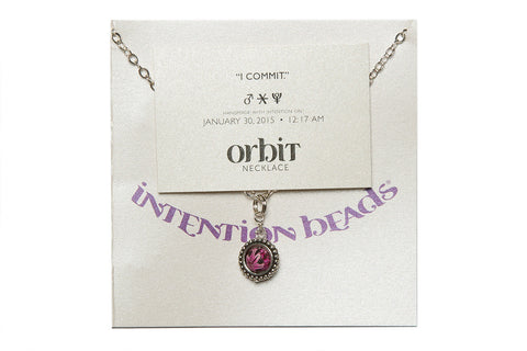 "Orbit Necklace ""I Commit"""