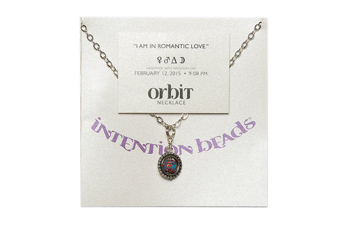 "Orbit Necklace ""I Am In Romantic Love"""