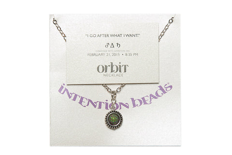 "Orbit Necklace ""I Go After What I Want"""