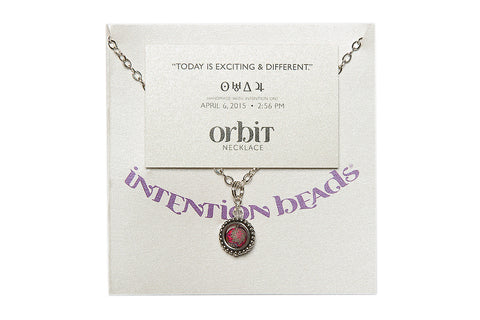 "Orbit Necklace ""Today Is Exciting and Different"""