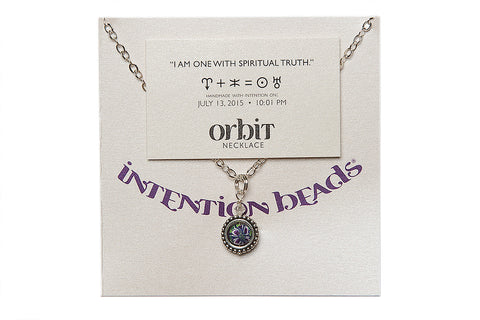 "Orbit Necklace ""I Am One with Spiritual Truth"""