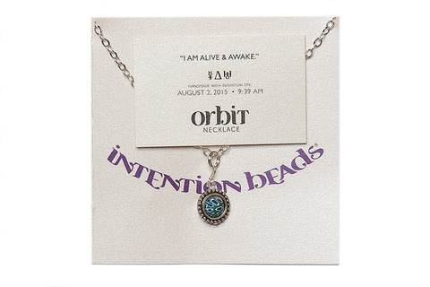 "Orbit Necklace ""I Am Alive & Awake"""
