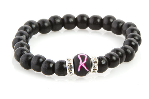 Breast Cancer Awareness Bracelet with crystal