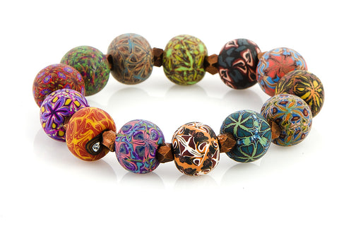 Multi Fall Large Bead Metric Bracelet