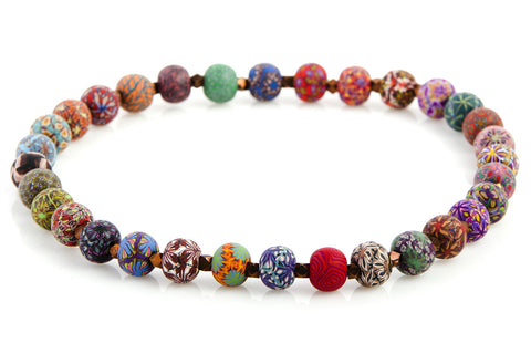 Multi Fall Large Bead Metric Necklace