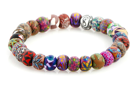 Multi Fall Small Bead All Clay Bracelet