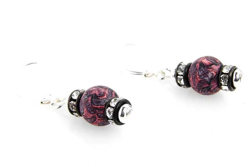 Multi Fall Small Bead Swarovski Crystal Earrings - Intention Beads | Astrology | Talisman
