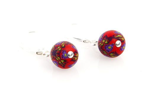 Multi Fall Small Bead All Clay Earrings