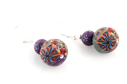 Multi Fall Large Bead All Clay Earrings