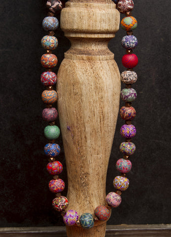 Multi Fall Large Bead Metric Necklace 1