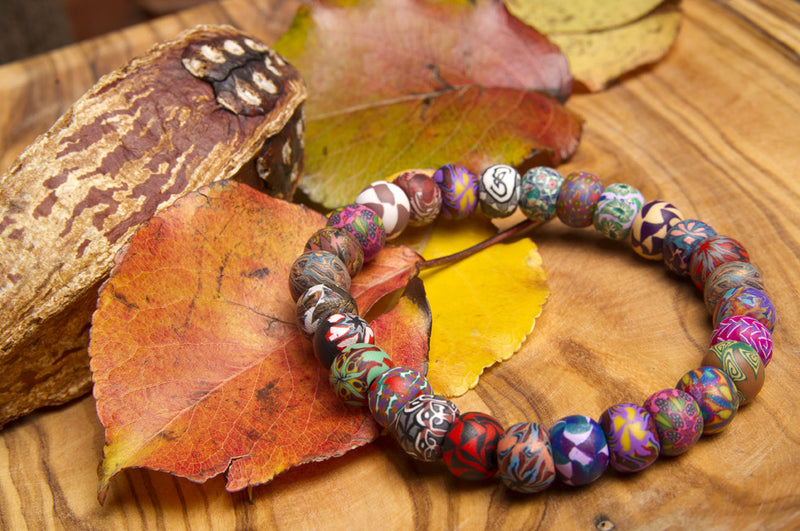 Multi Fall Small Bead All Clay Bracelet - Intention Beads | Astrology | Talisman