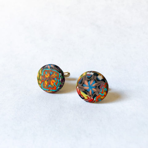 Father's Day Cuff Links- Multi Colored