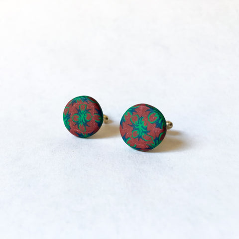 Father's Day Cuff Links- Green/Brown