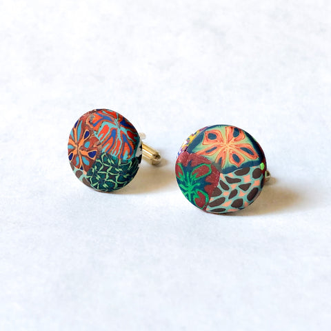 Father's Day Cuff Links- Multi Colored 2