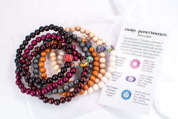 Chakra + Planet Bracelets - Intention Beads | Astrology | Talisman
