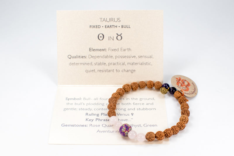 Taurus Celestial Bracelet - Intention Beads | Astrology | Talisman