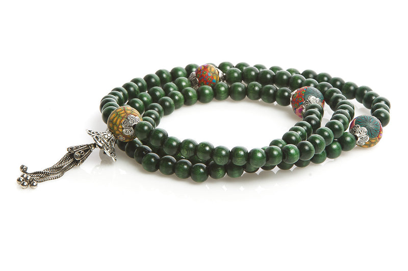 "Mala Prayer Beads: To Think and Act with the Phrase ""I Can Do This"" - Intention Beads 
