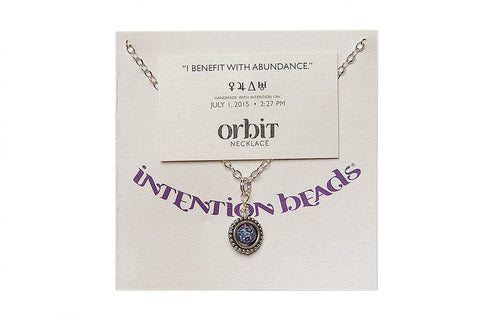 "Orbit Necklace ""I Benefit with Abundance"""