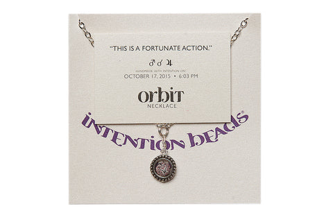 "Orbit Necklace ""This is a Fortunate Action"""