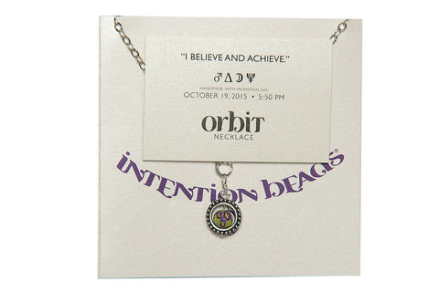 "Orbit Necklace ""I Believe and Achieve"""