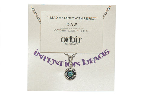 "Orbit Necklace ""I Lead My Family with Respect"""