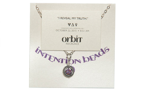 "Orbit Necklace ""I Reveal My Truth"""