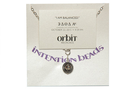 "Orbit Necklace ""I Am Balanced"""