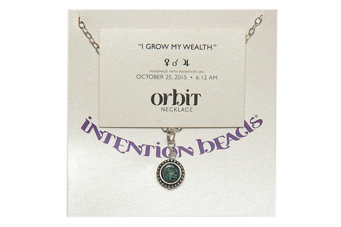 "Orbit Necklace ""I Grow My Wealth"""