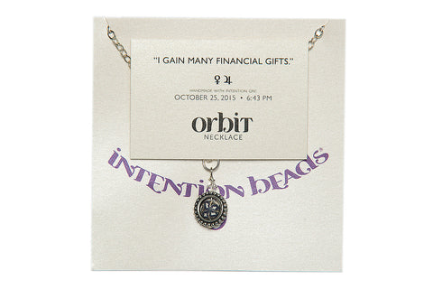 "Orbit Necklace ""I Gain Many Financial Gifts"""