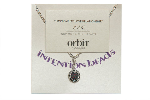 "Orbit Necklace ""I Improve My Love Relationship"""