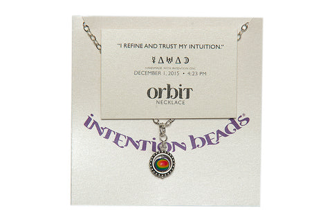"Orbit Necklace ""I Refine and Trust My Intention"""