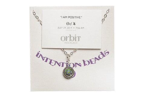 "Orbit Necklace ""I Am Positive"""
