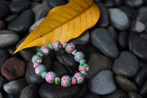 Susanti Large Bead All Clay Bracelet
