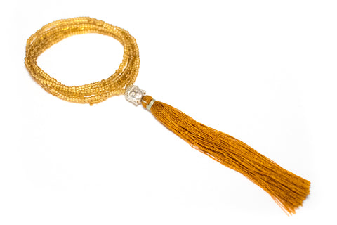 Bali Treasures: Seed Bead Tassel Necklaces